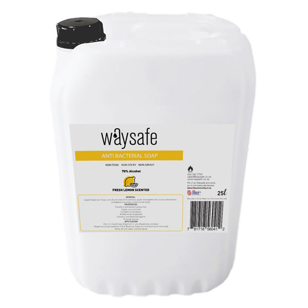 Waysafe Anti Bacterial Lemon Scented Soap 25 Litre