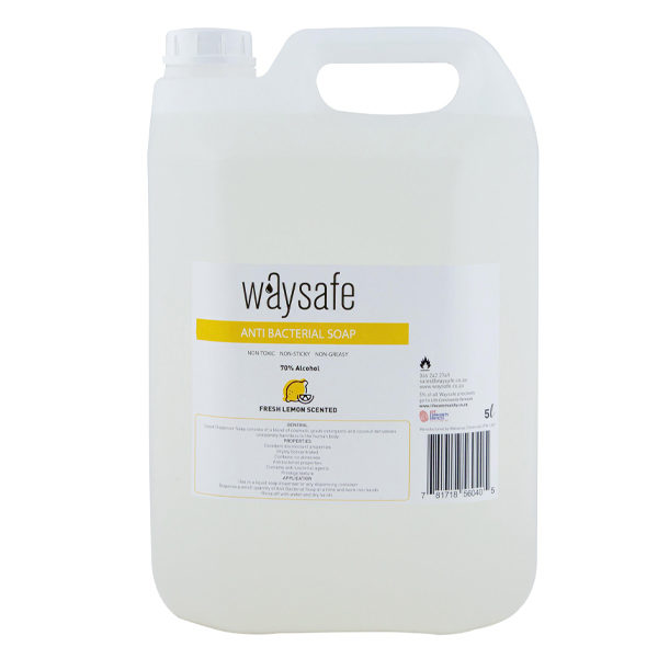 Waysafe Anti Bacterial Lemon Scented Soap 5 Litre