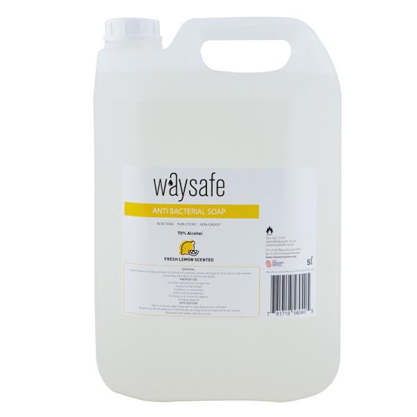 Waysafe Anti Bacterial Lemon Scented Soap 5 Litre