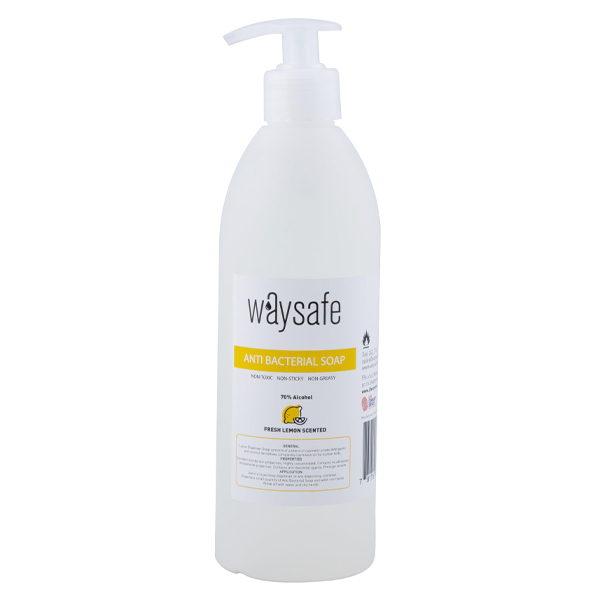 Waysafe Anti Bacterial Lemon Scented Soap 500ml