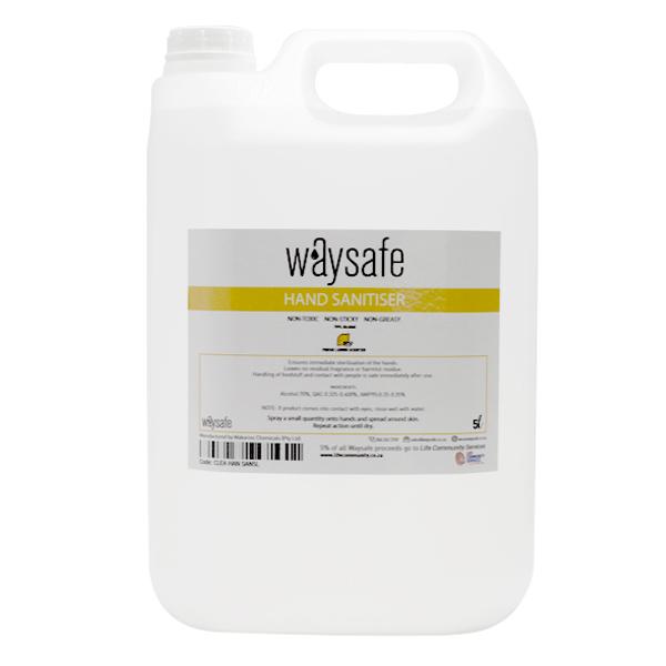 Waysafe Hand Sanitiser Liquid 70% Lemon Scented 5 Litre