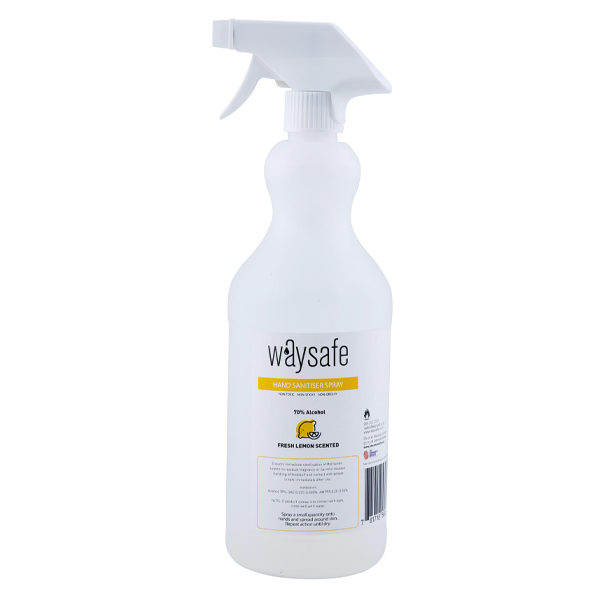 Waysafe Hand Sanitiser Spray 70% Lemon Scented 1 Litre