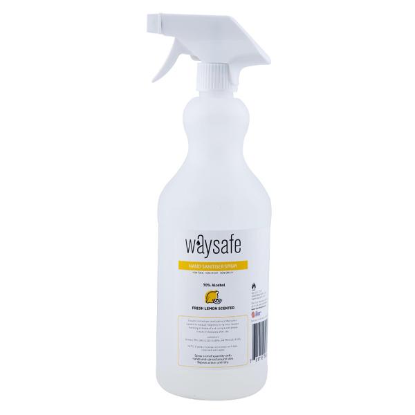 Waysafe Hand Sanitiser Spray 70% Lemon Scented 1 Litre