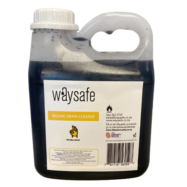 Waysafe Insane Drain Cleaner 1 Litre